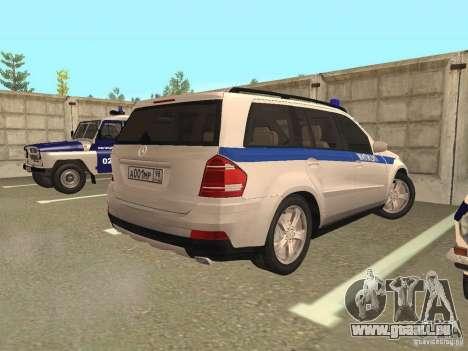 Mercedes-Benz GL500 Polizei für GTA San Andreas rechten Ansicht