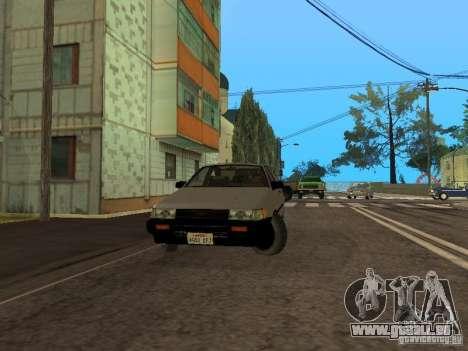 Toyota Corolla AE85 Levin GT-Apex pour GTA San Andreas laissé vue