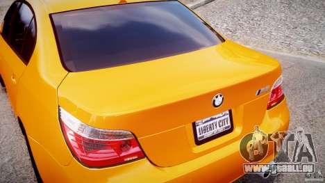 BMW M5 E60 pour GTA 4 vue de dessus