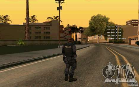 Peau SWAT pour GTA San Andreas deuxième écran
