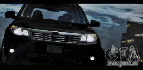 Subaru Forester XT 2008 pour GTA San Andreas vue de dessus
