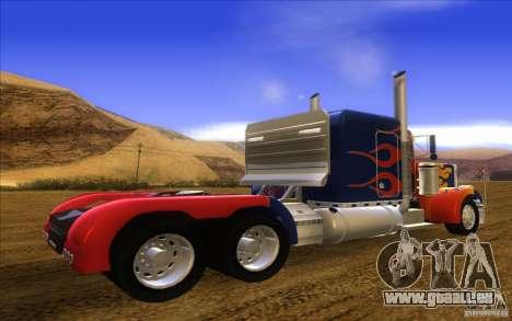 Truck Optimus Prime v2.0 pour GTA San Andreas laissé vue