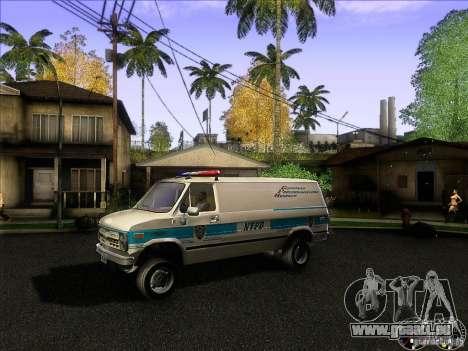 Chevrolet VAN G20 NYPD SWAT für GTA San Andreas linke Ansicht