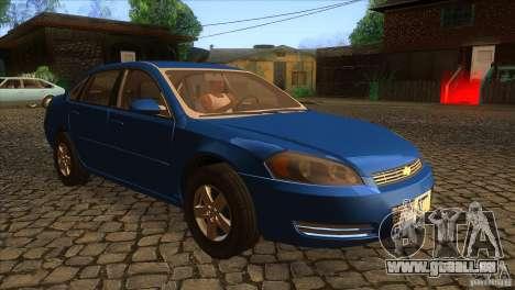 Chevrolet Impala für GTA San Andreas Rückansicht