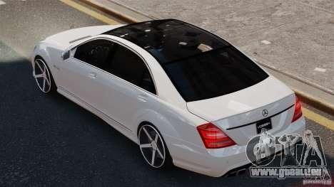 Mercedes-Benz S65 W221 AMG Vossen pour GTA 4 est une gauche