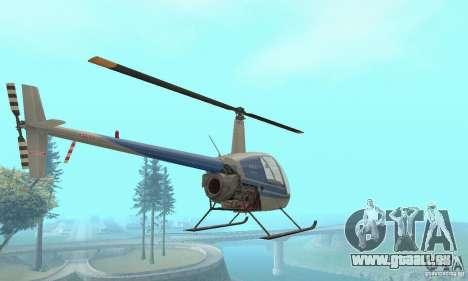 Robinson R22 pour GTA San Andreas vue arrière