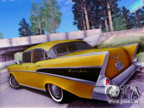 Chevrolet Bel Air 4-Door Sedan 1957 für GTA San Andreas Rückansicht
