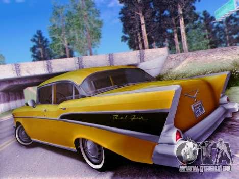 Chevrolet Bel Air 4-Door Sedan 1957 für GTA San Andreas Rückansicht