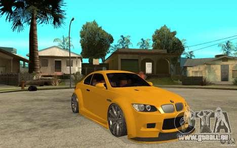 BMW M3 E92 für GTA San Andreas Rückansicht