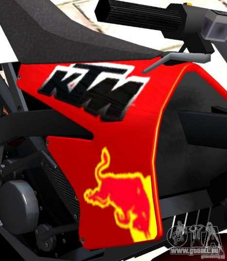 KTM EXC 450 für GTA 4 Rückansicht