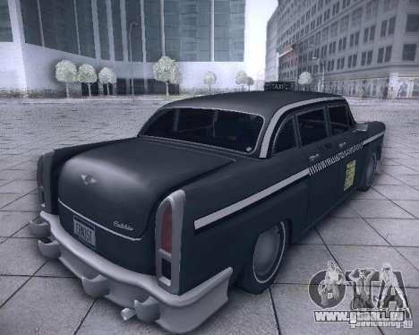Diablo Cabbie HD pour GTA San Andreas sur la vue arrière gauche