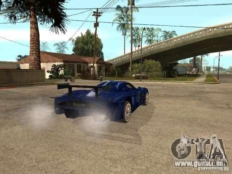 Maserati MC 12 GTrace pour GTA San Andreas sur la vue arrière gauche