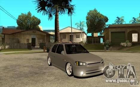 Peugeot 106 Reptile pour GTA San Andreas vue arrière