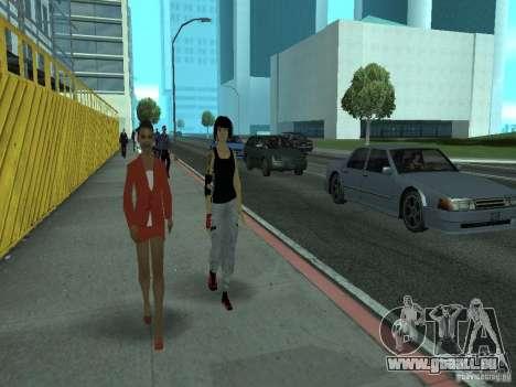 Mirrors Edge Faith pour GTA San Andreas troisième écran