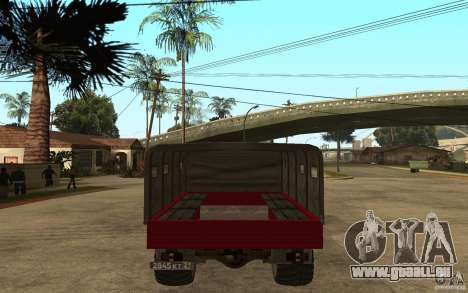 GAZ 66 für GTA San Andreas zurück linke Ansicht