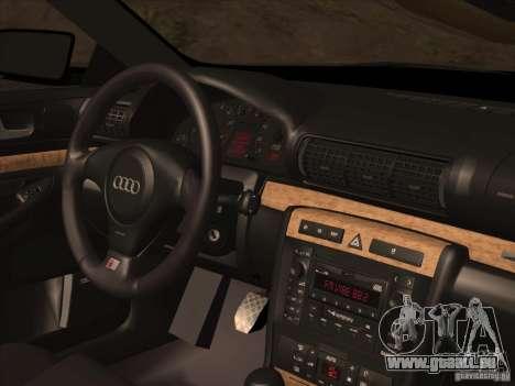 Audi S4 DatShark 2000 pour GTA San Andreas vue de dessous