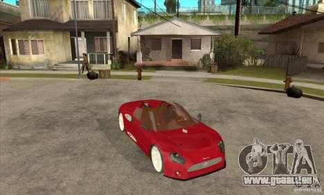 Spyker C8 Spyder für GTA San Andreas Rückansicht
