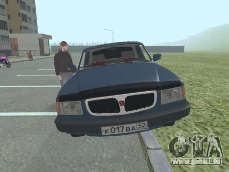 GAZ 3110 Wolga v1. 0 für GTA San Andreas zurück linke Ansicht