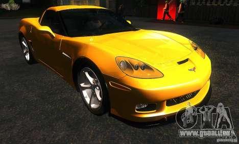 Chevrolet Corvette Grand Sport 2010 für GTA San Andreas Rückansicht