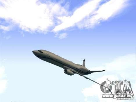 Boeing 737 Iron Man Bussines Jet für GTA San Andreas zurück linke Ansicht