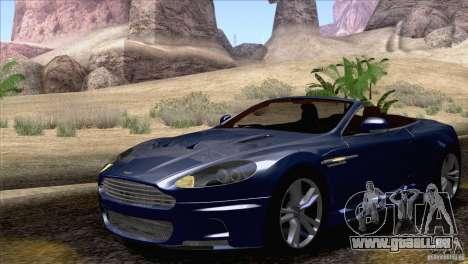 Aston Martin DBS Volante 2009 pour GTA San Andreas vue intérieure