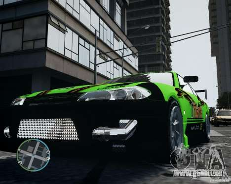 Nissan Silvia pour GTA 4 est une vue de l'intérieur