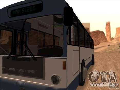 MAN SL200 Exclusive v.1.00 pour GTA San Andreas vue intérieure