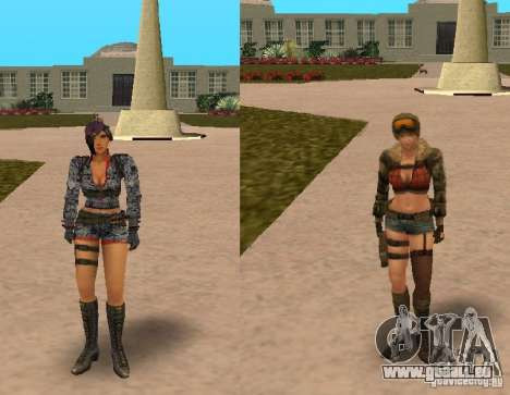 [Point Blank] Girl pour GTA San Andreas deuxième écran
