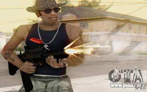 Saiga 12 c de Warface pour GTA San Andreas quatrième écran