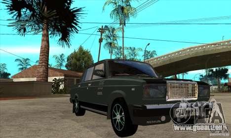 VAZ 2107 pour GTA San Andreas vue intérieure