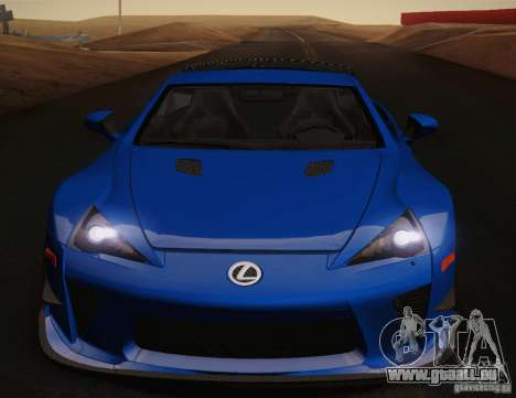 Lexus LFA Nürburgring Performance Package 2011 pour GTA San Andreas moteur