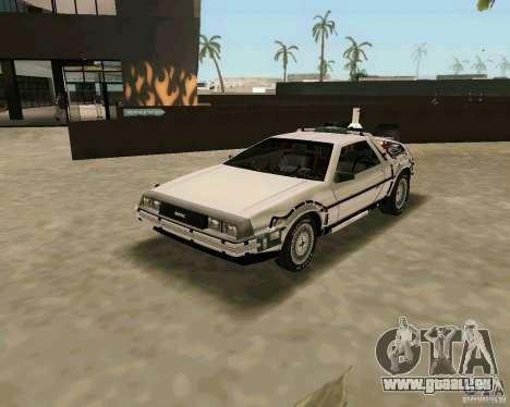 BTTF DeLorean DMC 12 für GTA Vice City rechten Ansicht