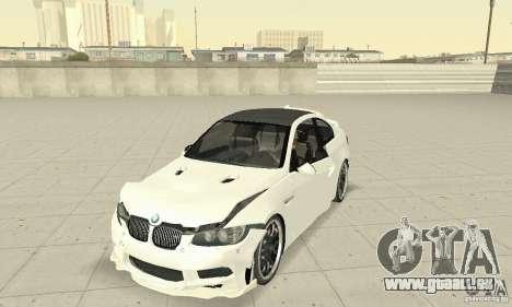 BMW M3 2008 Hamann v1.2 pour GTA San Andreas vue de dessus