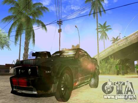 Ford Mustang Death Race für GTA San Andreas rechten Ansicht