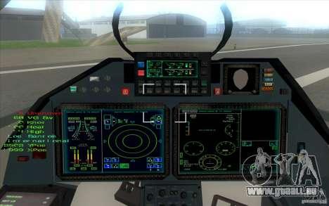 SU t-50 Pak FA für GTA San Andreas Rückansicht