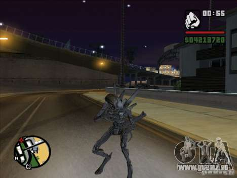 Alien Xenomorph für GTA San Andreas her Screenshot