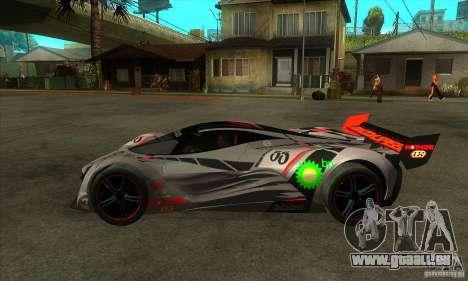 Mazda Furai V2 pour GTA San Andreas sur la vue arrière gauche