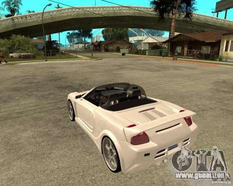 Toyota MRS2 Veilside pour GTA San Andreas laissé vue