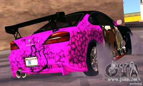 Nissan Silvia s15 tunable für GTA San Andreas Rückansicht