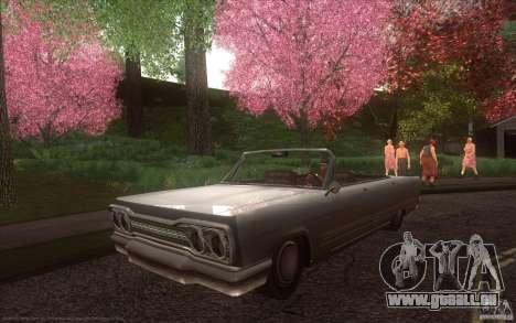 Savanna HD pour GTA San Andreas sur la vue arrière gauche