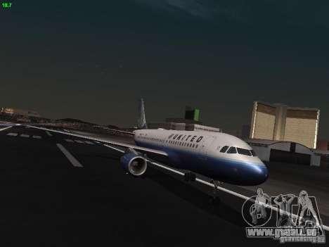 Airbus A319 United Airlines für GTA San Andreas