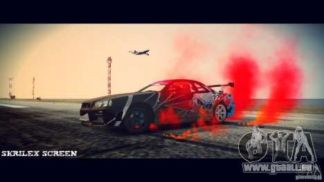 Red smoke under the wheels für GTA 4 Sekunden Bildschirm