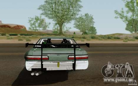 Nissan S13 Ben Sopra pour GTA San Andreas sur la vue arrière gauche