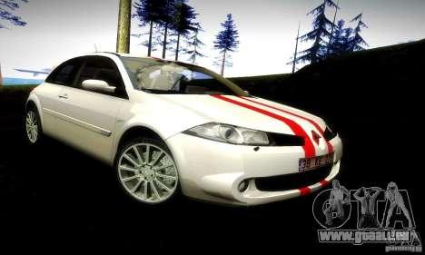 Renault Megane Coupe 2008 TR für GTA San Andreas zurück linke Ansicht