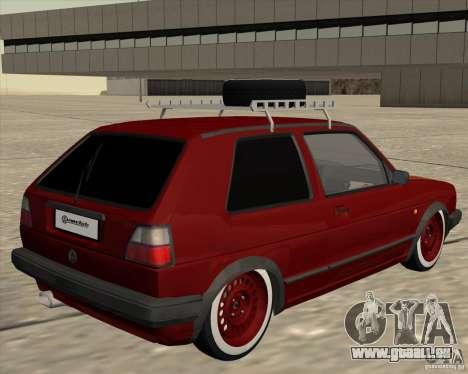 VW Golf II Shadow Crew pour GTA San Andreas vue de droite