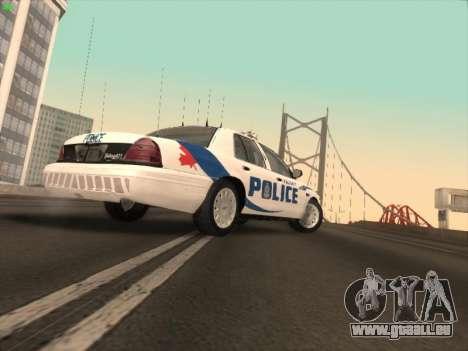Ford Crown Victoria Vancouver Police für GTA San Andreas zurück linke Ansicht
