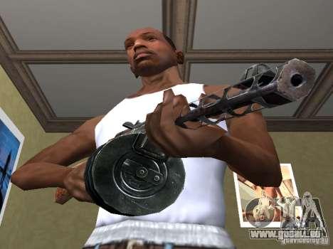 PPSH-41 pour GTA San Andreas deuxième écran