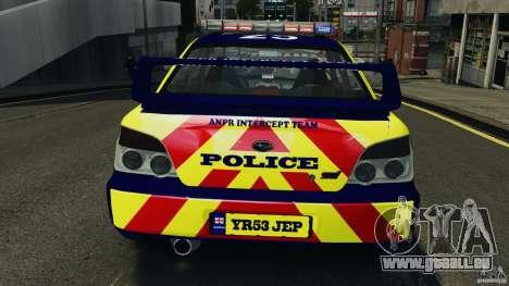 Subaru Impreza British ANPR [ELS] pour le moteur de GTA 4