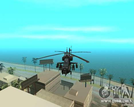 Ka-50 Black Shark für GTA San Andreas Innenansicht