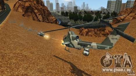 Bell AH-1 Cobra pour GTA 4 est une vue de l'intérieur